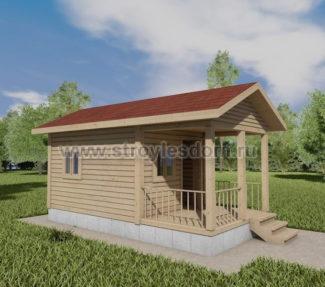 Одноэтажный дом 3х6