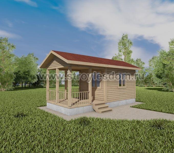 Одноэтажный дом 3х7
