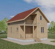 Полутораэтажный дом
