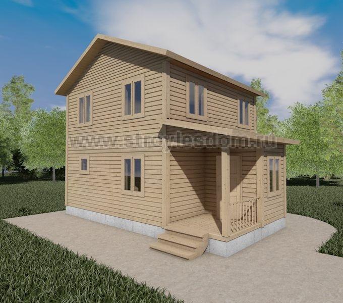 Двухэтажный дом 6 на 8