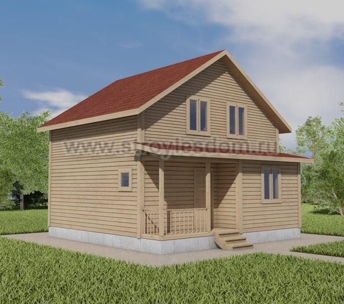 двухэтажный дом 7 на 7