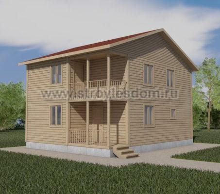 Дом 7 на 9 двухэтажный