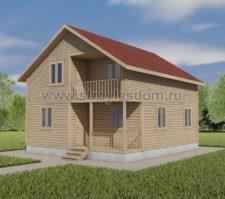 дом 7 на 8 двухэтажный