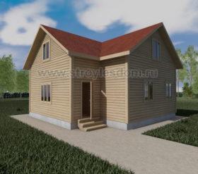 Двухэтажный дом 8 на 8