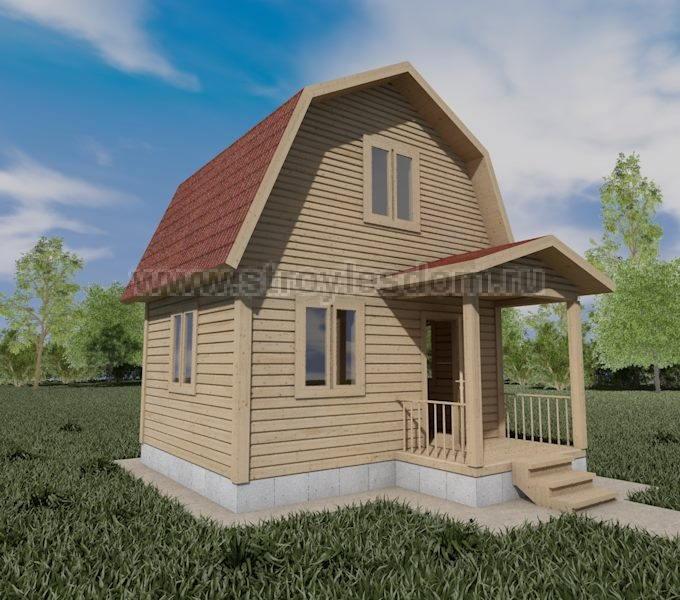 Деревянный дом 5х4 из бруса
