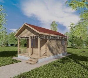 Дачный одноэтажный домик и бруса 7.5Х4