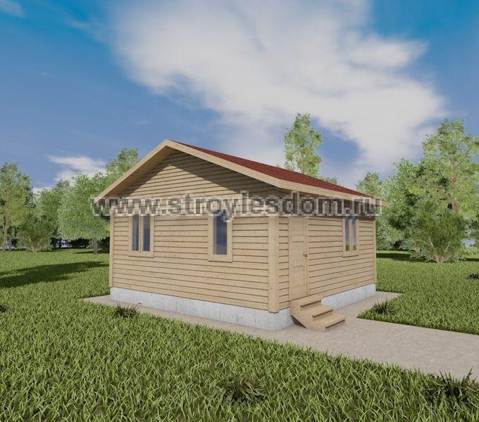 Одноэтажный дом из бруса с кухней