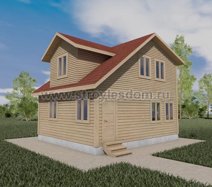 Дом 7 на 6 из бруса