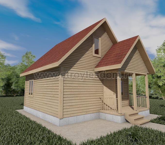 Дом 6х7 с небольшой террасой