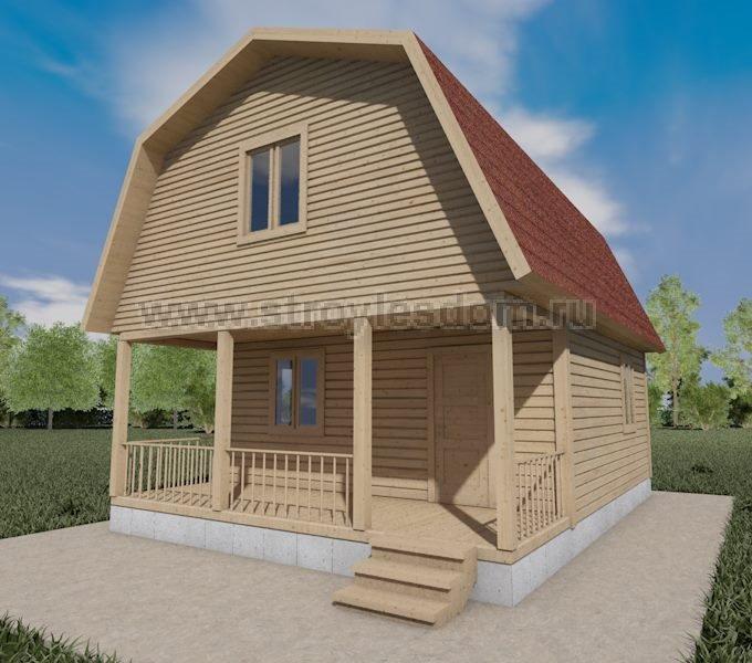 Зимний дом из бруса с террасой