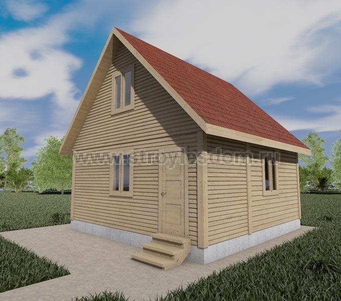 Дом из профилированного бруса с верандой