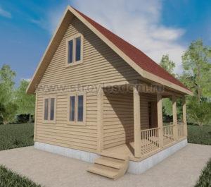дом 6 на 6 с открытой террасой