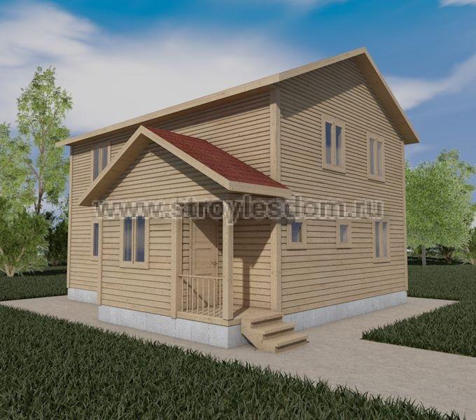 Двухэтажный дом 7 на 9 из бруса