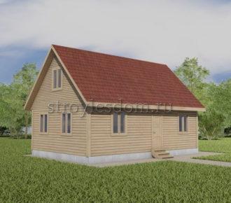 проект дома 6 на 9 из бруса