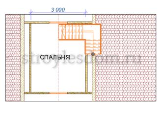планировка 2 этажа дома 4х7,5 из бруса